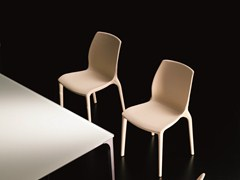 - Stackable chair HIDRA | Leather chair - Bontempi Casa