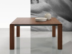 - Square wood veneer table DOLMEN DUE | Square table - Poliform
