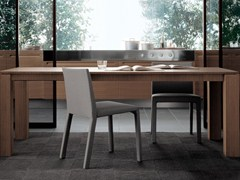 - Rectangular wood veneer table DOLMEN DUE | Rectangular table - Poliform
