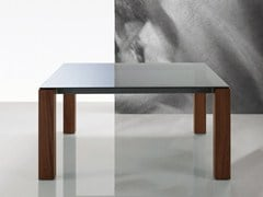 - Square glass table DOLMEN DUE | Glass table - Poliform