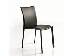 - Upholstered leather chair SIMBA | Leather chair - Bontempi Casa
