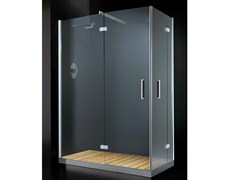 - Corner rectangular shower cabin with hinged door ELITE A09 - RARE