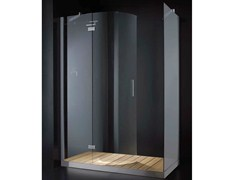 - Rectangular glass shower cabin with hinged door with tray ELITE R02 - RARE