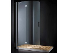 - Rectangular glass shower cabin with hinged door with tray ELITE R01 - RARE