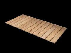 - Slatted flush fitting rectangular steel and wood shower tray STEEL | Flush fitting shower tray - RARE