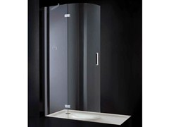 - Rectangular glass shower cabin with hinged door OPEN SPACE R01 - RARE