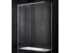 - Corner crystal shower cabin with sliding door ESSENZA G12 - RARE