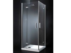 - Corner crystal shower cabin with hinged door RETTANGOLO A09 - RARE