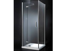- Crystal shower cabin with hinged door RETTANGOLO A11 - RARE