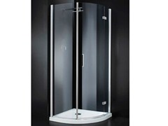- Corner semicircular crystal shower cabin with hinged door RETTANGOLO A10 790 - RARE