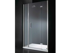 - Niche rectangular crystal shower cabin with hinged door RETTANGOLO B09 - RARE