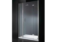 - Niche rectangular crystal shower cabin with hinged door RETTANGOLO B09 - RARE