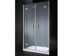 - Niche rectangular crystal shower cabin with hinged door RETTANGOLO B10 - RARE