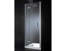 - Niche rectangular crystal shower cabin with hinged door RETTANGOLO B08 - RARE