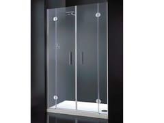 - Niche rectangular crystal shower cabin with hinged door LIGHT B10 - RARE