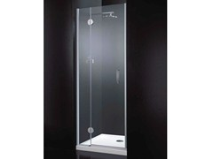 - Niche rectangular crystal shower cabin with hinged door LIGHT B08 - RARE
