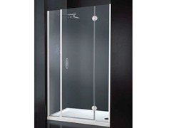 - Niche rectangular crystal shower cabin with hinged door LIGHT B09 - RARE