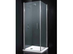 - Corner tempered glass shower cabin with hinged door SEGNO A11 - RARE