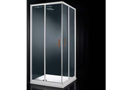 - Corner glass shower cabin with sliding door GLASS A01 COLOURS - RARE