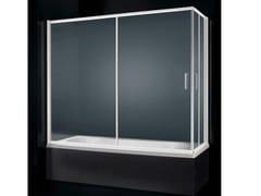 - Glass bathtub wall panel GLASS D03 - RARE