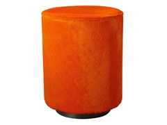 - Upholstered cowhide pouf ALY | Pouf - AZEA