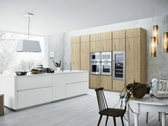 - Fitted kitchen with island without handles CLOE - COMPOSITION 4 - Cesar Arredamenti
