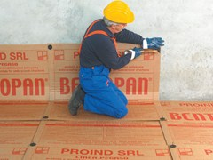 Cardboard panel filled with pure granular sodium bentonite BENTOPAN® - PROIND