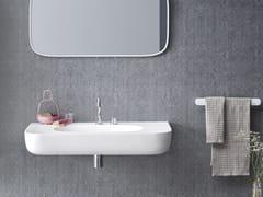 - Corian® washbasin with integrated countertop ESPERANTO | Wall-mounted washbasin - Rexa Design
