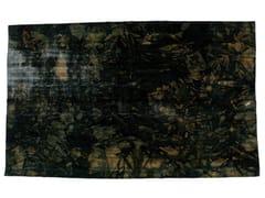 - Vintage style handmade rectangular rug DECOLORIZED BLACK - Golran