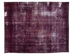 - Vintage style handmade rectangular rug DECOLORIZED PURPLE - Golran