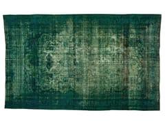 - Vintage style handmade rectangular rug DECOLORIZED TURQUOISE - Golran