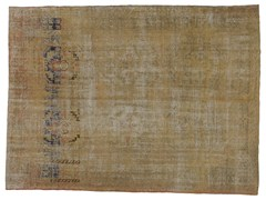 - Vintage style handmade rectangular rug DECOLORIZED WHITE - Golran