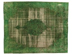 - Vintage style rectangular rug DECOLORIZED GREEN - Golran
