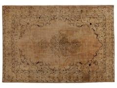 - Vintage style handmade rectangular natural fibre rug DECOLORIZED BEIGE - Golran