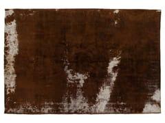- Vintage style handmade rectangular rug DECOLORIZED BROWN - Golran