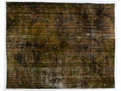 - Vintage style handmade rectangular rug DECOLORIZED DARK YELLOW - Golran