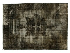- Vintage style handmade rectangular rug DECOLORIZED GREY - Golran