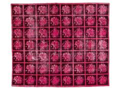 - Vintage style handmade rectangular rug DECOLORIZED PINK - Golran