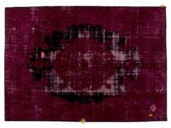 - Vintage style handmade rectangular rug DECOLORIZED MOHAIR WINE - Golran