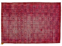 - Vintage style handmade rectangular rug DECOLORIZED MOHAIR PINK - Golran