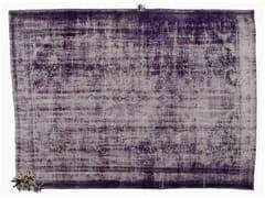 - Vintage style handmade rectangular rug DECOLORIZED MOHAIR PURPLE - Golran
