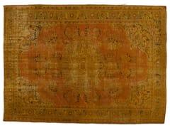 - Vintage style handmade rectangular rug DECOLORIZED MOHAIR YELLOW - Golran