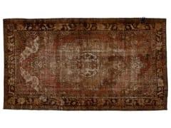 - Vintage style handmade rectangular rug DECOLORIZED MOHAIR BROWN - Golran