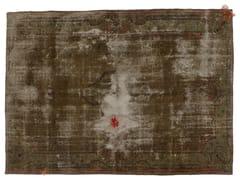 - Vintage style handmade rectangular rug DECOLORIZED MOHAIR GREY - Golran