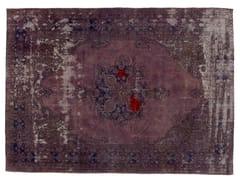 - Vintage style handmade rectangular rug DECOLORIZED MOHAIR LILLA - Golran