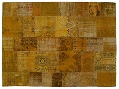- Vintage style patchwork rug PATCHWORK YELLOW - Golran
