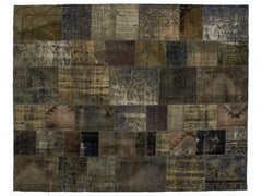- Vintage style patchwork rug PATCHWORK GREY - Golran
