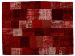 - Vintage style patchwork rug PATCHWORK RED - Golran