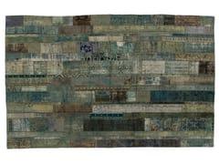 - Vintage style patchwork rug PATCHWORK RESTYLED AQUA - Golran