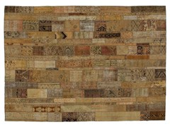 - Vintage style patchwork rug PATCHWORK RESTYLED BEIGE - Golran